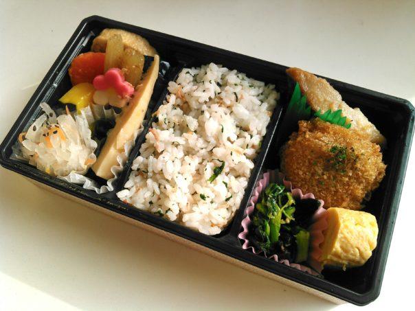 青菜と小海老ご飯弁当