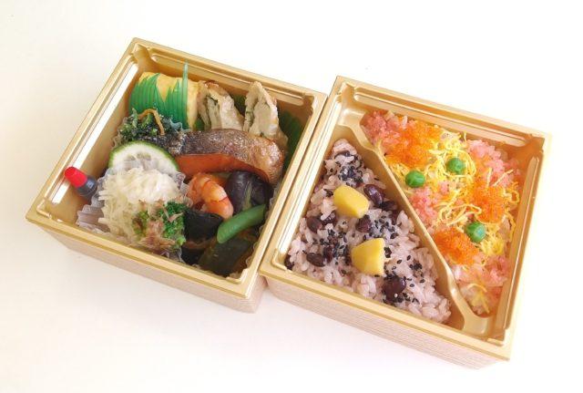 赤飯とちらし寿司二段弁当