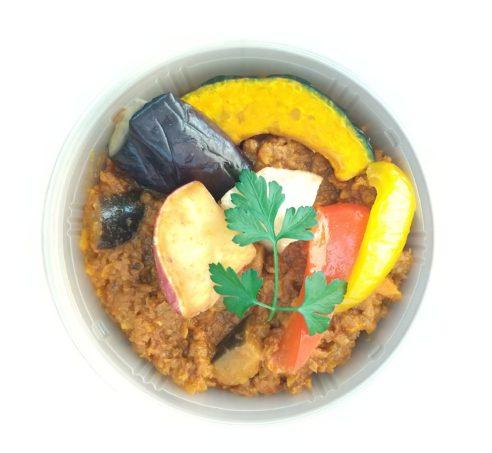 発芽大豆ミートと野菜のキーマカレー